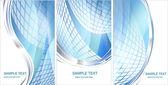 Hi-tech blue background — Stock Vector