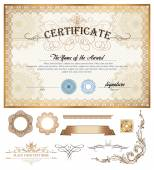 Certificate or coupon template — Stock Vector