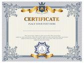 Plantilla de certificado o un cupón — Vector de stock