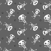 Seamless background with Skeletons — Stock Vector
