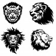 Growling lion tattoo — Stock Vector #61633307