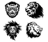 Growling lion tattoo — Stock Vector