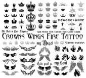 Tattoo set — Stockvektor