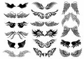 Wings tattoo vector set — 图库矢量图片