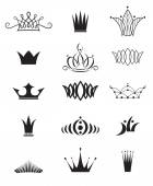 Modern crowns — Stock Vector