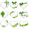 Vector hearts set for wedding and valentine design — Stock Vector #62884031