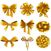 Gift bows with ribbons. — Stock Vector