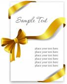 Gold gift bow with ribbons. — Stock Vector