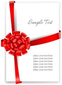 Greeting card with a red ribbon — Stock Vector