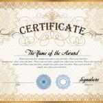 Certificate template — Stock Vector #65054273