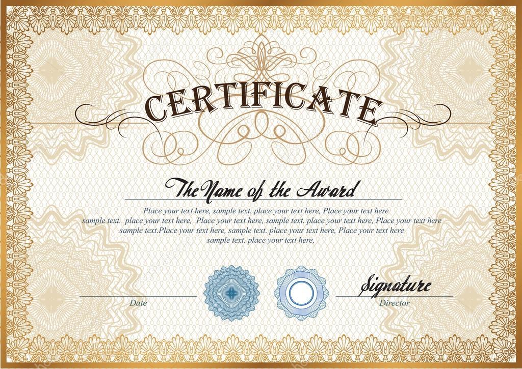 Blank Certificates Templates