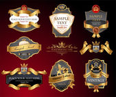 Vctor luxury labels — Stockvector