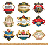 Vctor luxury labels — Stock Vector