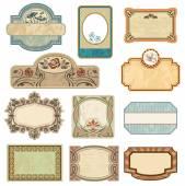 Ornate vintage labels. — Stock Vector