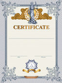 Certificate template with Femida. — Stock Vector