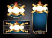 Vctor luxury labels — Stok Vektör