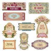 Ornate vintage labels in style Art Nouveau. — Vecteur