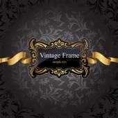 Marco de oro vintage — Vector de stock