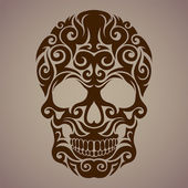 Ornamental art of a skull — Stock Vector