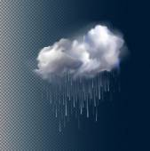 Vector cloud and rain — Stock Vector