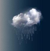 矢量云和雨 — 图库矢量图片