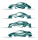 Modern cars design elements. — Stock Vector