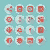Universal glat design icons — Stock Vector