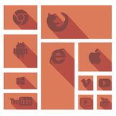 Иконки браузер — Stock Vector