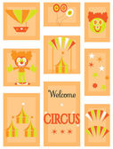 The circus - icon set — Stock Vector