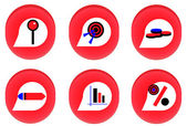 Red businness icon — Stock Vector