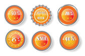 Set of labels with text Best Offer, Sale — Stock Vector