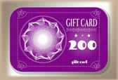 Elegant gift card with text — Stock vektor