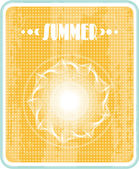 Sun with text Summer, retro style — Stockvektor