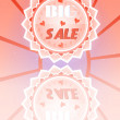 Beautiful, pink, flyer with text Big Sale with small hearts — Stock Vector #67185093