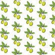 Vintage seamless pattern with green olives with leaves, retro design — Stock Vector #69431647