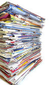 A set of different magazines on a white background — Stock Photo