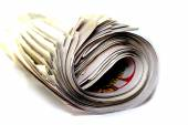 Rolled up newspaper — Stock Photo