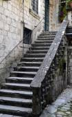 Vintage stone staircase and terrace — Stock Photo