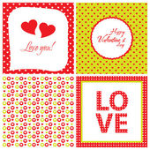 Set of modern love card with heart — Stock Photo