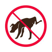 No Dog Peeing -- Vector - No dog pee sign logo — Stock Vector