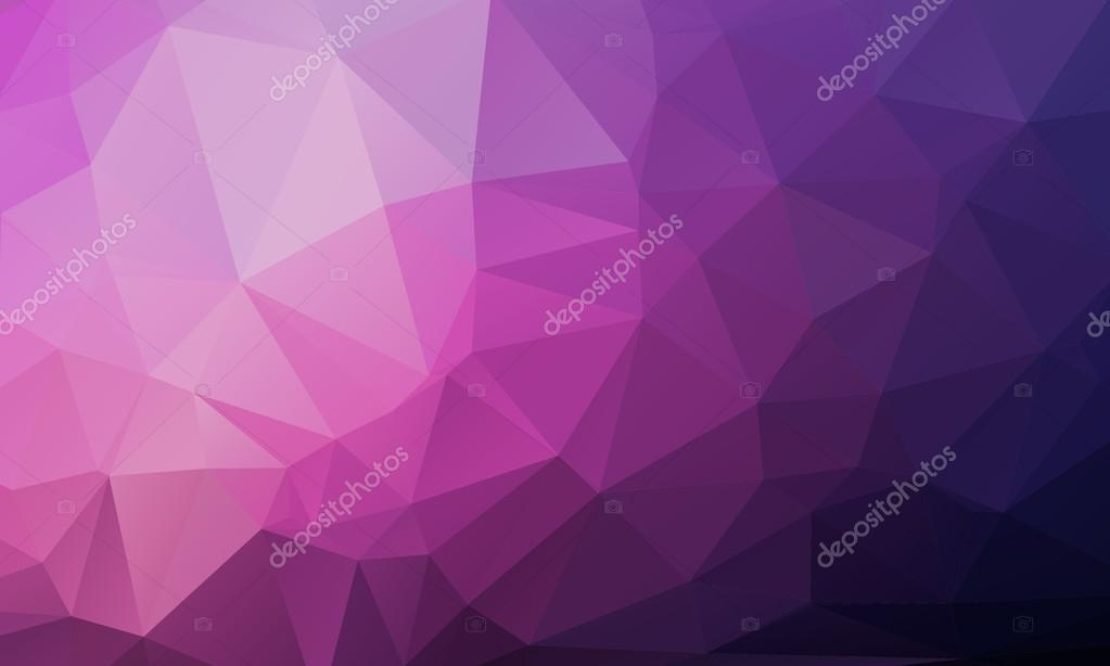 Purple Polygonal Abstract Background: Vector Geometrical Polygon Abstract Purple Background