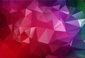 ベクトル多角形の幾何学的な抽象的な紫色の背景 — ストックベクタ