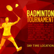 Unusual colorful triangle shape. Geometric polygonal professional badminton player, pattern design, vector illustration with empty space for poster, banner, web — Stock Photo #72387511