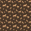 Brown horses seamless pattern — Stock Vector #59196415