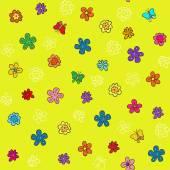 Seamless flower background — Cтоковый вектор