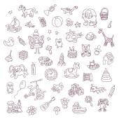 Set of different vector toys — Stock Vector