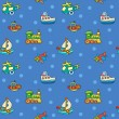 Seamless pattern with colorful childrens toys — Vector de stock  #59904303