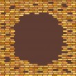 Wall, brown, brick - with place for text vector illustration — Stock Vector #59905673