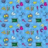School seamless pattern — Stockvektor