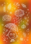 Autumn Cute Elements Set — Stock Vector